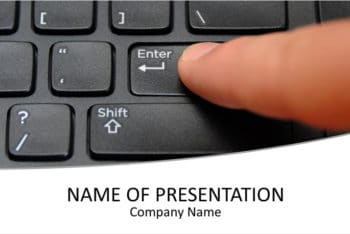 Free Keyboard Skills Lesson Powerpoint Template