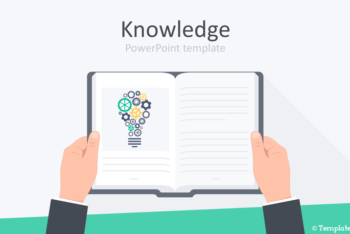 Free Book Knowledge Concept Powerpoint Template