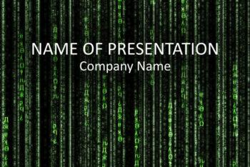 Free Matrix Code Slides Powerpoint Template