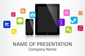 Free Mobile App Concept Powerpoint Template