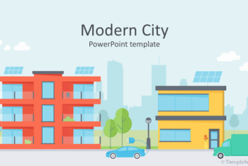 Free Modern City Vectors Powerpoint Template