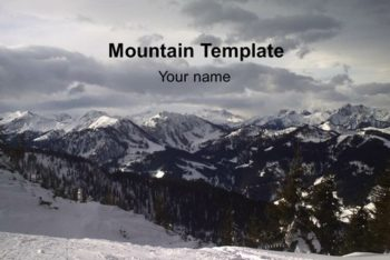 Free Glorious Mountain View Powerpoint Template