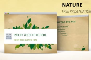 Free Nature Art Slides Powerpoint Template