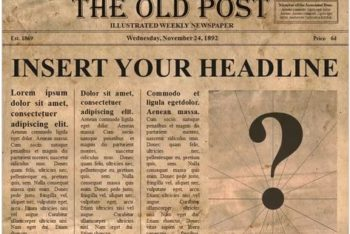 Free Old Editable Newspaper Powerpoint Template