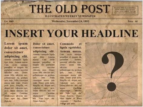 Old Editable Newspaper