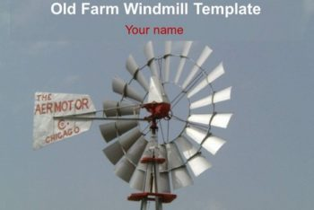 Free Old Windmill Farm Powerpoint Template