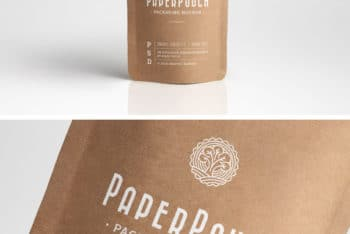 Paper Pouch PSD Mockup to Design Beautiful Paper Pouches
