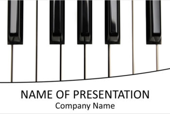 Free Piano Lesson Slides Powerpoint Template
