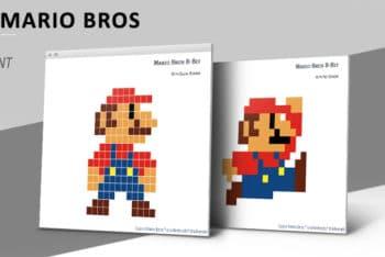 Free Pixel Mario Art Powerpoint Template