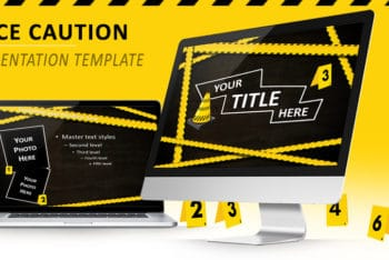 Free Police Caution Lines Powerpoint Template