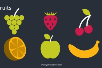 Free Healthy Fruits Vector Powerpoint Template