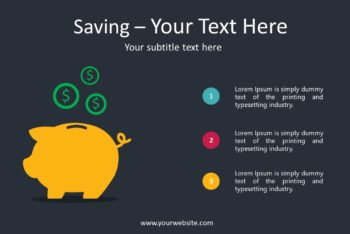 Free Saving Tips Slides Powerpoint Template