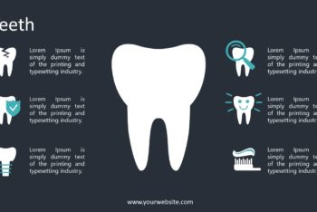 Free Teeth Care Vector Powerpoint Template