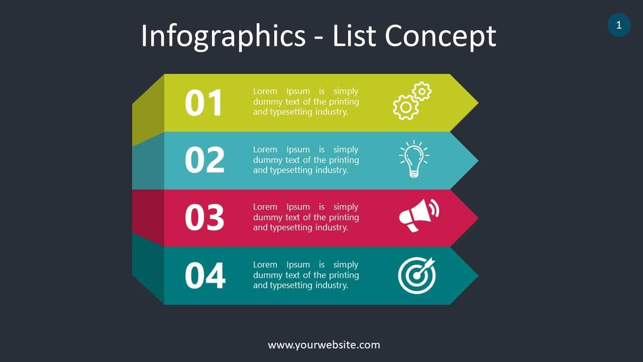 List Infographics Slides