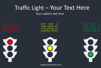 Free Traffic Lights Rules Powerpoint Template