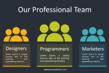 Free Professional Team Slides Powerpoint Template