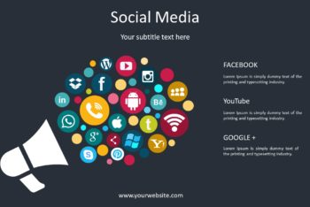 Free Social Media Concept Powerpoint Template