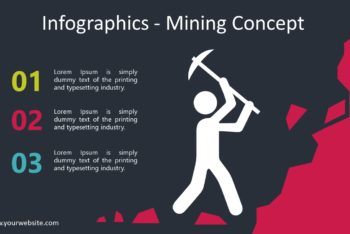 Free Mining Infographic Slides Powerpoint Template