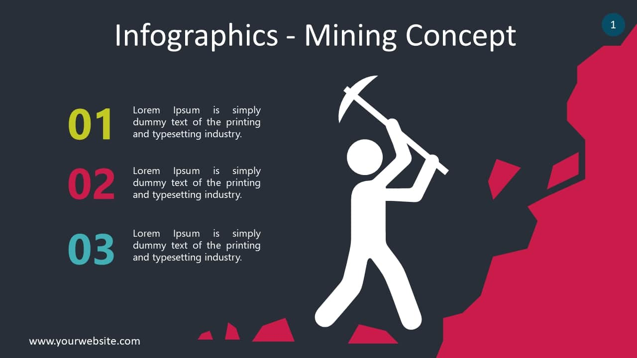 Free Mining Infographic Slides Powerpoint Template - DesignHooks