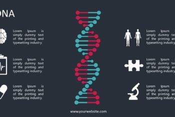 Free DNA Lesson Infographics Powerpoint Template