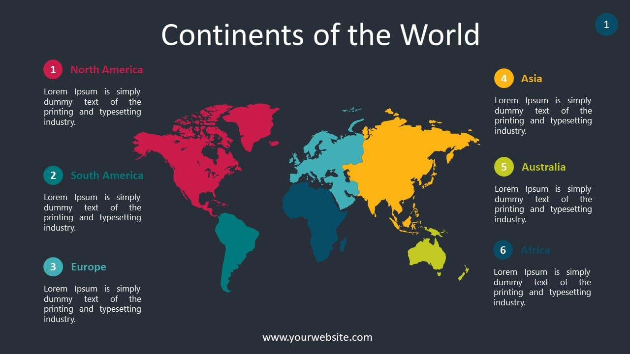World Continents Lesson