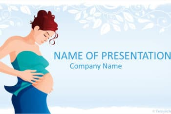 Free Beautiful Pregnancy Art Powerpoint Template