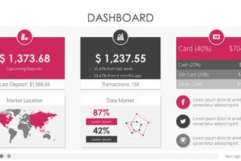 Free Dashboard Design Slides Powerpoint Template