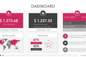 Free Dashboard Design Slides Powerpoint Template