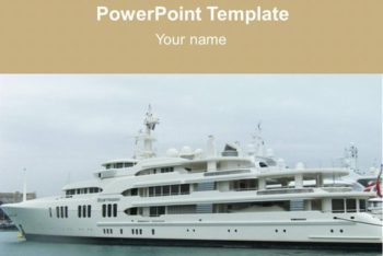 Free Cruise Ship Concept Powerpoint Template