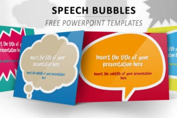 Free Speech Bubble Slides Powerpoint Template