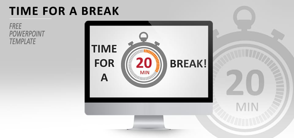 free break time slides powerpoint template