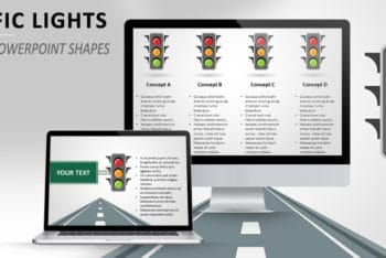 Free Traffic Lights Slides Powerpoint Template