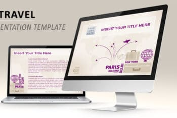 Free Modern Travel Concept Powerpoint Template