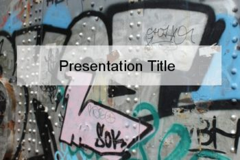 Free Cool Urban Art Powerpoint Template