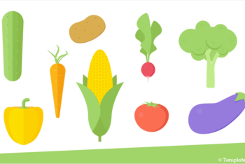 Free Veggies Icon Slides Powerpoint Template