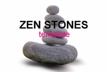 Free Zen Stones Concept Powerpoint Template