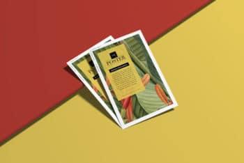 Colorful Poster Design PSD Mockup for Branding Purposes.