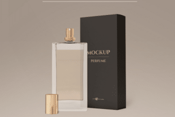 Elegant Perfume Bottle PSD Mockup Available for Free