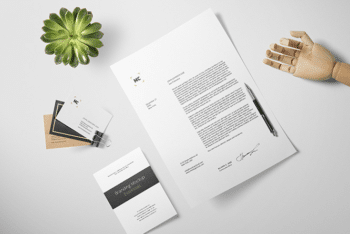 Branding Stationery Items PSD Mockup for Advertising Your Brand with Professionally Crafted Material
