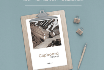 Beautiful Clipboard Mockup – Available in PSD Format & for Free