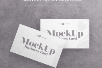 Easy-to-edit Business Card PSD Mockup – Available for Free