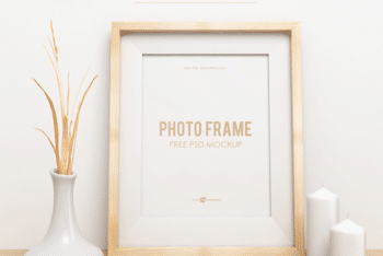 Beautiful Photo Frame Design PSD Mockup for Free