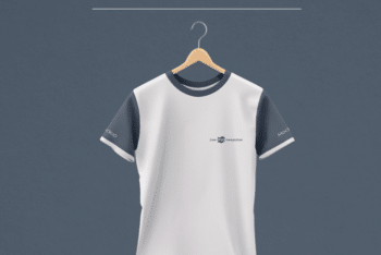 Easy-to-edit Round Neck T-shirt PSD Mockup for Showcasing Apparel Design Easily