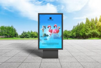 Download City Park Billboard Poster Design PSD Mockup for Free