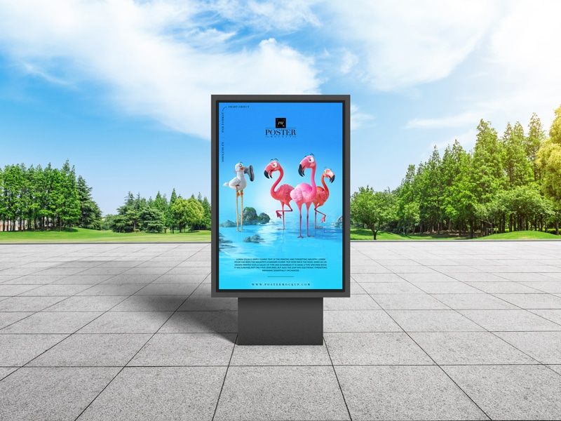 City Park Billboard Poster Design PSD Mockup