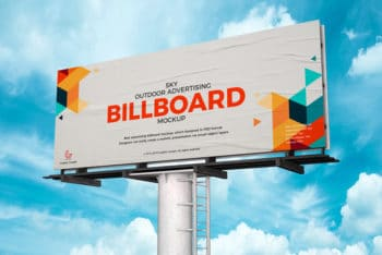 Outdoor Advertising Billboard PSD Mockup for Free