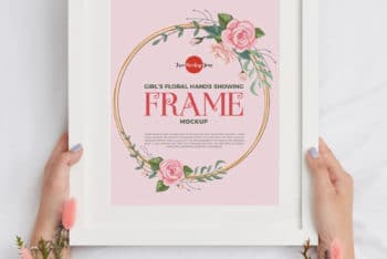 Beautiful Frame Design PSD Mockup for Free