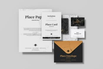 Corporate Stationery Set PSD Mockup – Available in High Resolution