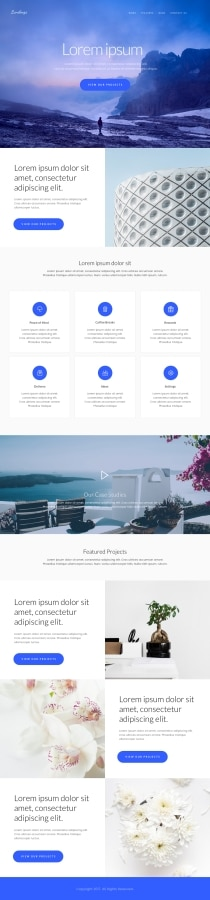 Startup Landing Page Adobe XD Template