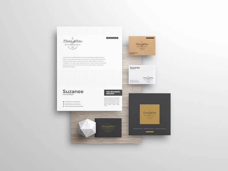 Branding Stationery PSD Template for Free